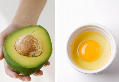 mặt nạ bơ và trứng